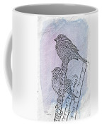 Winter Sparrows 2 Coffee Mug