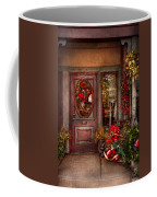 Winter - Store - Metuchen Nj - Dressed For The Holidays Coffee Mug by Mike Savad