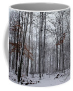 Winter Storm In The Forest Coffee Mug