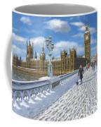 Winter Sun - Houses Of Parliament London Coffee Mug