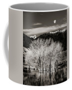 Winter Sunrise And Moonset Coffee Mug