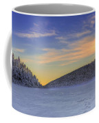 Winter Sunset Over Eagle Lakes Coffee Mug