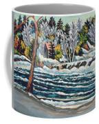 Winter Thaw Gatineau River Coffee Mug