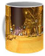 Winter Time Street Scene In Krizevci Coffee Mug