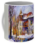 Winter Town - Palette Knife Oil Painting On Canvas By Leonid Afremov Coffee Mug