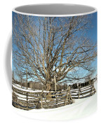 Winter Tree And Fence Coffee Mug