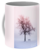 Winter Tree In Fog At Sunrise Coffee Mug