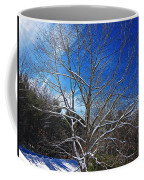Winter Tree On Sky Coffee Mug