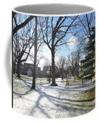 Winter Tree Shadows Coffee Mug