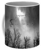 Winter Trees Moving Sky Coffee Mug