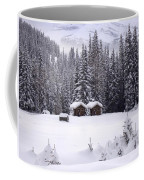 Forest Snow Blanketed Privies - Winter In Banff, Alberta Coffee Mug