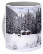 Forest Snow Blanketed Privies - Winter In Banff, Alberta Coffee Mug