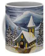 Winter Watercolor Coffee Mug