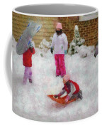 Winter - Winter Is Fun Coffee Mug by Mike Savad