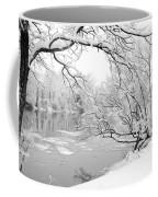 Winter Wonderland In Black And White Coffee Mug