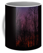 Winter Woods Sunset Coffee Mug