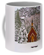 Winter Yosemite Chapel Coffee Mug