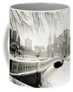 Winter's Touch - Bow Bridge - Central Park - New York City Coffee Mug