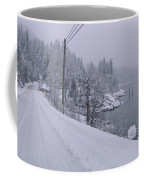 Wintery Road Coffee Mug