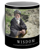 Wisdom Inspirational Quote Coffee Mug by Stocktrek Images