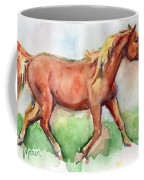 Horse Painted In Watercolor Wisdom Coffee Mug
