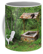 Wishing Well And Cat Coffee Mug