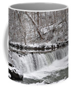 Wissahickon Waterfall In Winter Coffee Mug by Bill Cannon