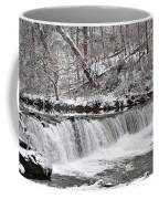 Wissahickon Waterfall In Winter Coffee Mug