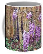 Wisteria And Old Fence Coffee Mug