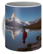 With The Matterhorn In The Background Coffee Mug