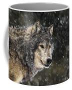Wolf - Snow Storm Coffee Mug