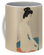 Woman After A Bath Taisho Era Coffee Mug