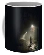 Woman Alone On A Park Avenue Coffee Mug