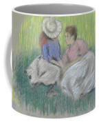 Woman And Girl On The Grass Coffee Mug