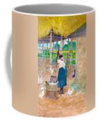 Woman Beating Cassava Jamaica Coffee Mug