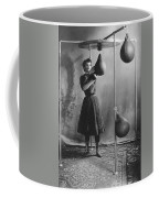 Woman Boxing Workout Coffee Mug by Underwood Archives