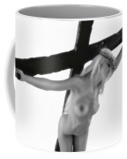Woman Crucified Coffee Mug