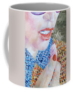 Woman Eating Marshmallow- Oil Portrait Coffee Mug