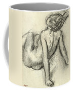 Woman Having Her Hair Styled Coffee Mug