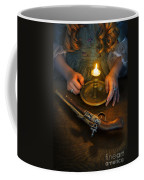 Woman In Historical Gown With Candle And Flintlock Pistol Coffee Mug