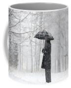 Woman In The Forest With An Umbrella Coffee Mug