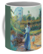 Woman In The Garden Coffee Mug