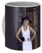 Woman In White Palm Springs Coffee Mug