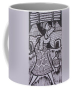 Woman Is Coming From The Farm With Firewood On Her Head Coffee Mug