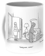 Woman Is Standing In Doorway With Arms Crossed Coffee Mug