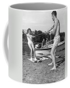 Woman Learning To Water Ski Coffee Mug