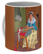 Woman Making Lace In Louisbourg Living History Museum-1744-ns Coffee Mug