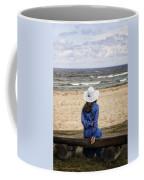 Woman On A Bench Coffee Mug