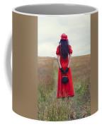 Woman On Field Coffee Mug