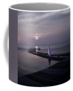 Woman On Footbridge Coffee Mug